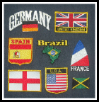 Flag patches, embroidered country patches