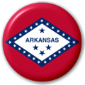 Arkansas State Flag 25mm Pin Button Badge