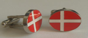Denmark Country Flag Cufflinks.