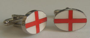 England Country Flag Cufflinks.