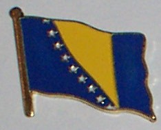 Flag Badge - Bosnia