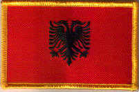 Albania Embroidered Flag Patch, style 08