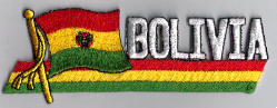 Flag Patch - Bolivia 01