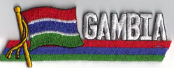Flag Patch - Gambia 01