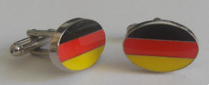 Germany Country Flag Cufflinks.