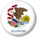 Illinois State Flag 25mm Pin Button Badge
