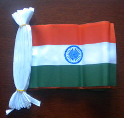 India Flag 9 metre Bunting.