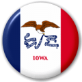 Iowa State Flag 25mm Pin Button Badge
