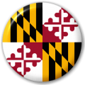 Maryland State Flag 25mm Pin Button Badge
