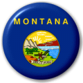 Montana State Flag 25mm Pin Button Badge
