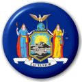 New York State Flag 25mm Pin Button Badge