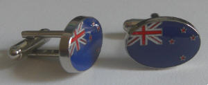 New Zealand Country Flag Cufflinks.