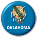 Oklahoma State Flag 25mm Pin Button Badge
