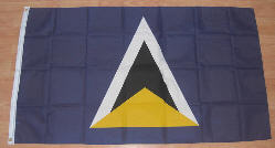 St Lucia Country Flag - 5' x 3'.