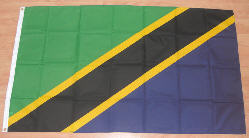 Tanzania Country Flag - 5' x 3'.